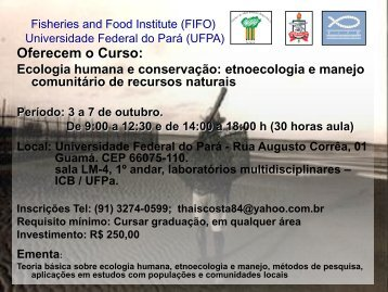 Oferecem o Curso: - Universidade Federal do Pará