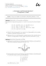 Ubungsblatt 9, SS03 - Automaten und Formale Sprachen - TU Ilmenau
