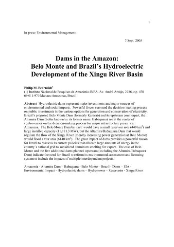 article critique study on belo monte Multi-causal pathways of public opposition to dam projects in asia: a fuzzy set qualitative comparative analysis (fsqca.