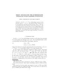 Besov spaces for the Schrödinger operator with barrier potential ...