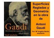 Superficies Regladas y Geometría en la obra de Antoni Gaudí
