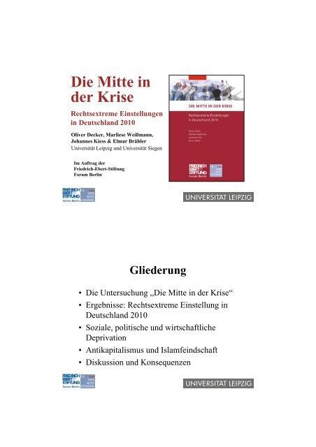 Die Mitte in der Krise - Friedrich-Ebert-Stiftung
