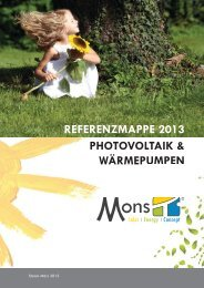 referenzmappe 2013 photovoltaik & wärmepumpen - Mons Concept
