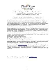 PARTICIPANT REGISTRATION FORM - AZDirectCare.org