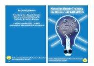 Flyer zum Neurofeedback-Training für Kinder mit ADS/ADHS