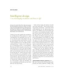Intelligent design - en vetenskaplig revolution som kom av ... - Till Liv