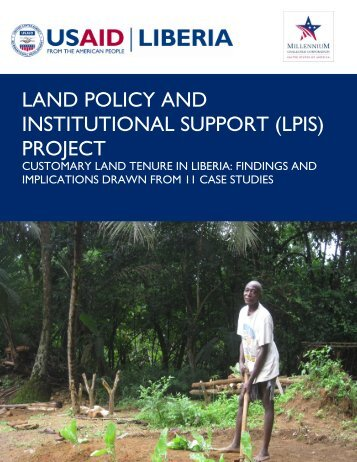 Customary Land Tenure in Liberia - Land Tenure and Property ...