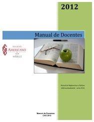 Manual de Docentes - Colegio Americano del Sur