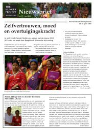 Nieuwsbrief - The Hunger Project