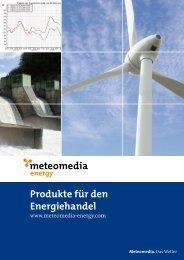 Produkte für den Energiehandel - Meteomedia AG