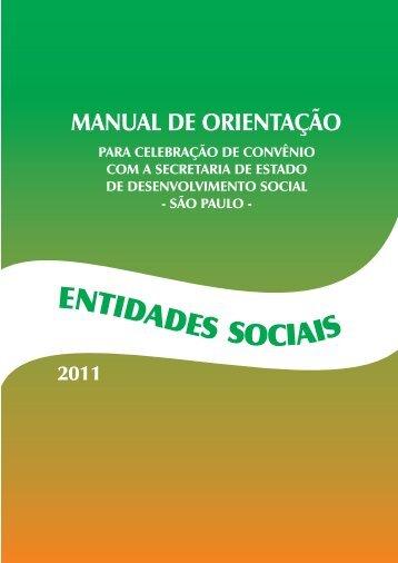 MANUAL DE ORIENTAÇÃO - Secretaria de Desenvolvimento Social ...