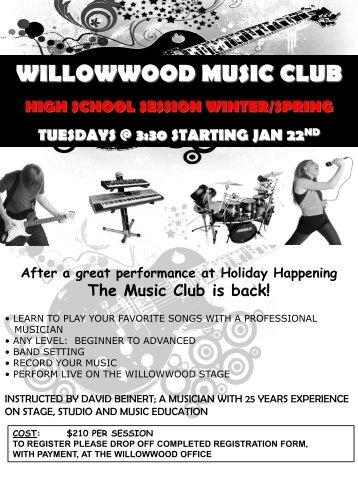 WILLOWWOOD MUSIC CLUB HIGH SCHOOL SESSION WINTER ...