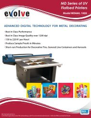 MD Series of UV Flatbed Printers - INX International Ink Co.