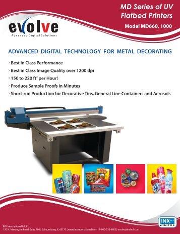 MD Series of UV Flatbed Printers - INX International Ink Co.