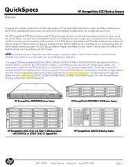 HP StorageWorks D2D Backup Systems - mywebtek