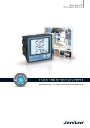 6-Kanal-Netzanalysator UMG 96RM-E - Janitza Electronics GmbH