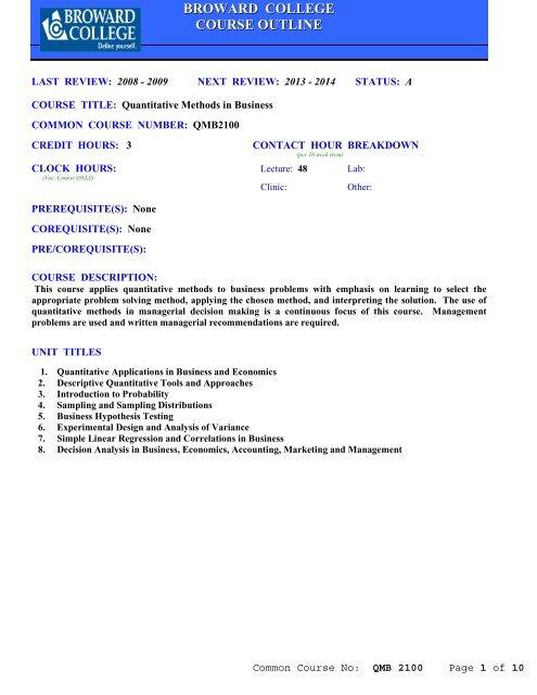 In quantitative business pdf methods