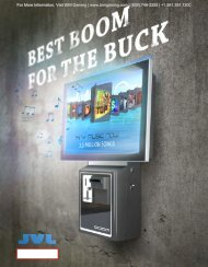 JVL Boom Internet Jukebox Brochure - BMI Gaming