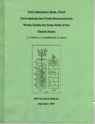 Soil Laboratory Data, Field Descriptions and Field Measured Soil