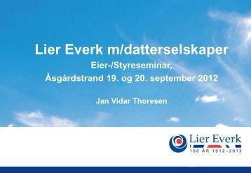 Lier Everk AS . om selskapet - Lier kommune
