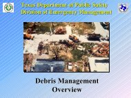 Debris Management Overview - Texas Department of Public Safety