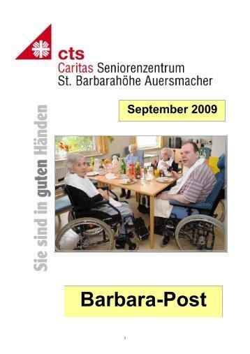 HZ St.B. September 09 - Caritas Seniorenzentrum St. Barbarahöhe