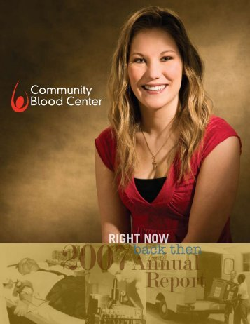 2008 Community Blood Center Annual Report