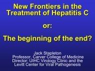 New Frontiers in Treatment of Hepatitis C Infection - Internal Medicine