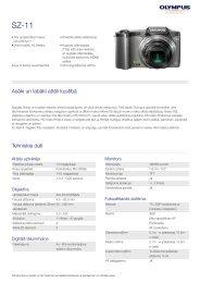 SZ-11, Olympus, Compact Cameras