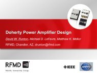 Doherty Power Amplifier Design - RF Micro Devices