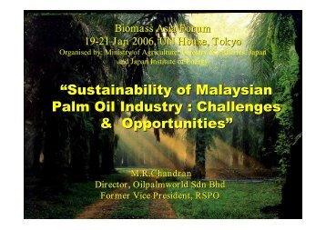 """Sustainability of Malaysian Palm Oil Industry : Challenges ..."