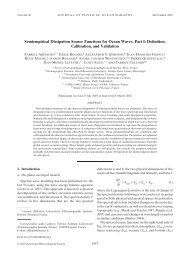 Semi-empirical dissipation source functions for wind-wave ... - Ifremer