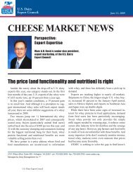 CHEESE MARKET NEWS - US Dairy Export Council