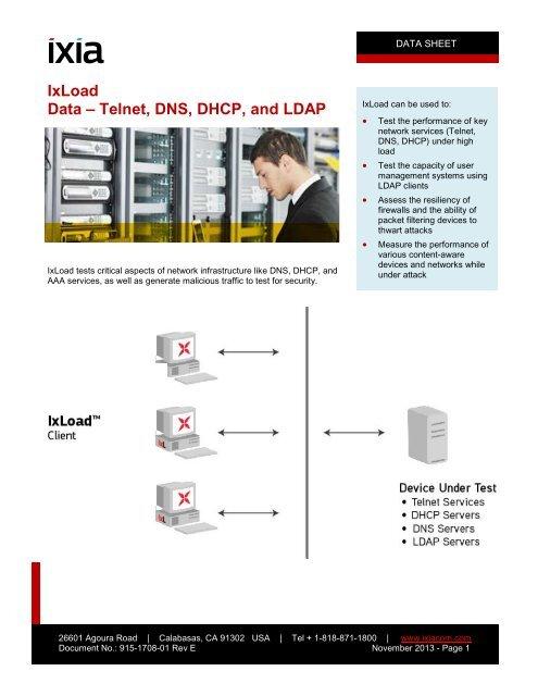 Data - Telnet, DNS, DHCP, LDAP, DDoS, Vulnerability - Ixia