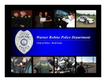 Chief Scarborough - Warner Robins Police Department