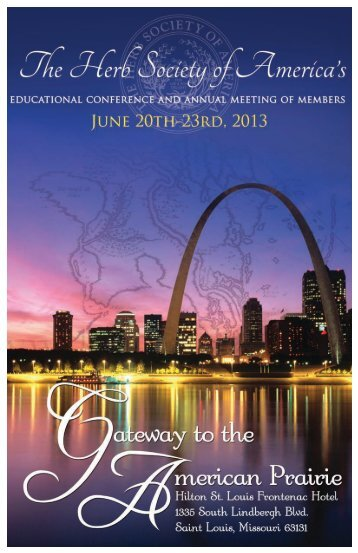 View Conference Brochure - The Herb Society of America