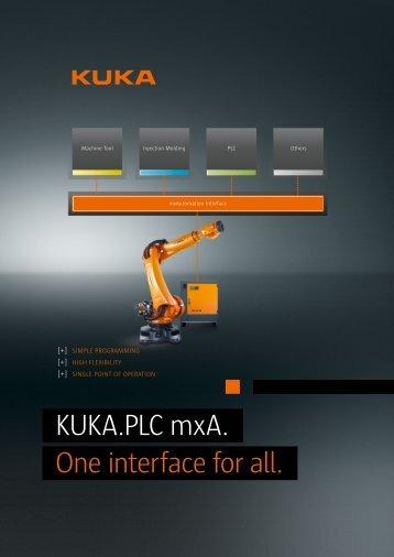 KUKA.PLC mxA. One interface for all. - KUKA Robotics