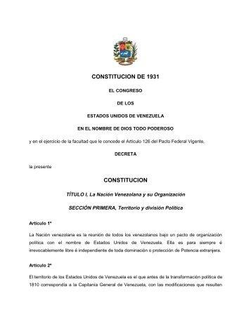 1931 Constitucion - Antiescualidos