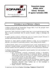 Spoga-Gafa 2008 - Cifarelli SpA