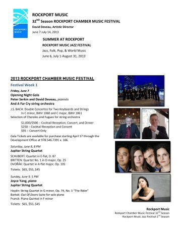 Download 2013 Rockport Music Summer Festival press release