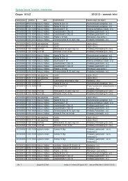 Plan zajec semestru 2012/13/letni - Wyższa Szkoła Turystyki i ...