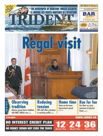 February 19, 2007 - Tridentnews.ca