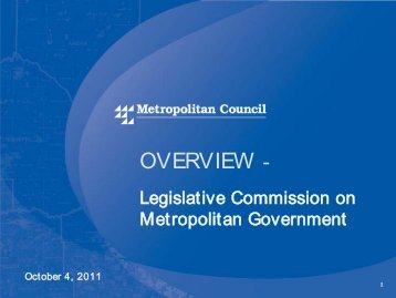 Oct. 4, 2011 presentation - Legislative Coordinating Commission