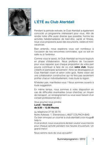 L'ÉTÉ au Club Atertdall - Croix-Rouge luxembourgeoise