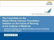 The Initiative on the Future of Nursing - UC Davis Health System