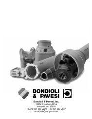 Bondioli & Pavesi, Inc. - JS Woodhouse