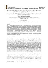 Evaluation of Overall Equipment Effectiveness in a Continuous