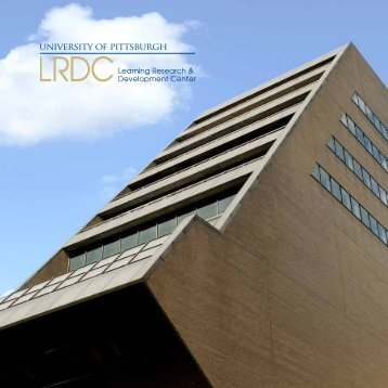 Brochure - Learning Research and Development Center - University ...