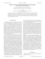 Magnetic ordering in two-dimensional Heisenberg antiferromagnets ...