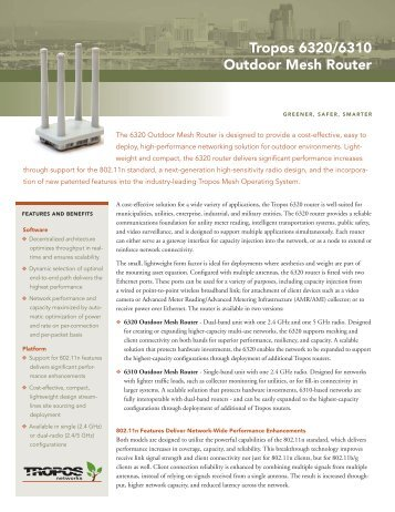 Tropos 6320 Datasheet - Sigma Wireless